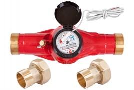 Счетчик горячей воды общедомовой ЭКО НОМ-40Г-ДГ-300 (импульсный выход)