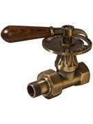 Вентиль RETROstyle регулирующий прямой 3/4 с деревянной ручкой