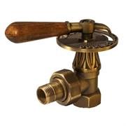 Вентиль RETROstyle регулирующий угловой 1/2 с деревянной ручкой