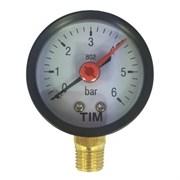 Манометр радиальный TIM Y50-6 bar диаметр 50 мм