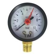 Манометр радиальный TIM Y50-10 bar диаметр 50 мм
