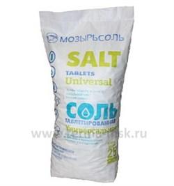 Соль таблетированная МОЗЫРЬСОЛЬ, 25 кг - фото 11946