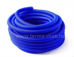 Кожух гофрированный защитный 25 мм синий (бухта 50 м) - фото 12059