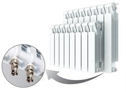 Радиатор биметаллический Rifar Monolit Ventil 500, 7 секций с нижним правым подключением - фото 14001