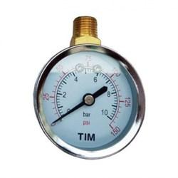 Манометр радиальный TIM Y50C-10 bar диаметр 50 мм - фото 17116