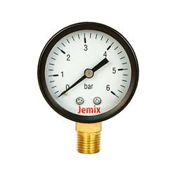 Манометр радиальный Jemix XPS-R, 6 bar диаметр 50 мм - фото 30196