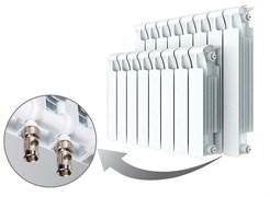 Радиатор биметаллический Rifar Monolit Ventil 500, 4 секции с нижним правым подключением