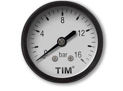Манометр аксиальный TIM Y50T-10 bar диаметр 50 мм
