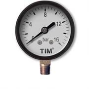 Манометр радиальный TIM Y50-16 bar диаметр 50 мм