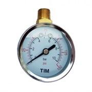 Манометр радиальный TIM Y50C-10 bar диаметр 50 мм