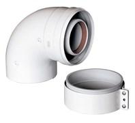 Отвод коаксиальный стартовый 90° Gekon 60/100 мм