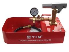 Насос опрессовочный ручной TIM WM-60