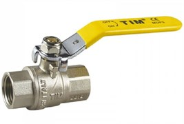 """Кран шаровый для газа TIM 1"""" ВВ рычаг DE114T"""