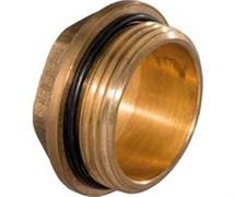 Заглушка латунная ДУ20 НР с уплотнительным кольцом