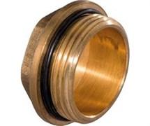 Заглушка латунная ДУ25 НР с уплотнительным кольцом
