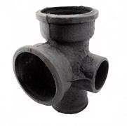 Крестовина ЧК канализационная 100х100х50х90 2-плоскостная правая