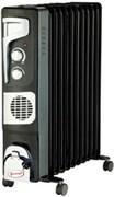 Радиатор масляный УМНИЦА ОМВ-11с-2,9 кВт, чёрно-серебристый