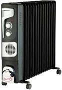 Радиатор масляный УМНИЦА ОМВ-13с-2,9 кВт черно-серебристый
