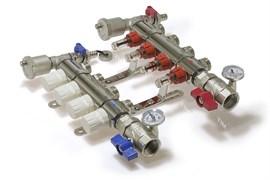 Коллекторная группа KA007 с расходомерами и кранами 7 выходов 1 х 3/4 х 7 TIM