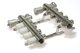 Коллекторная группа KB004 с регулирующими клапанами (без кранов) 4 выхода 1 х 3/4 х 4 TIM