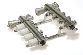Коллекторная группа KB008 с регулирующими клапанами (без кранов) 8 выходов 1 х 3/4 х 8 TIM