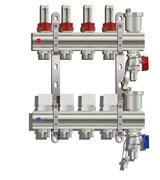 Коллекторная группа KC007 с расходомерами (без кранов) 7 выходов 1 х 3/4 х 7 TIM