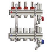 Коллекторная группа KC008 с расходомерами (без кранов) 8 выходов 1 х 3/4 х 8 TIM