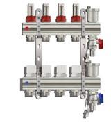 Коллекторная группа KC009 с расходомерами (без кранов) 9 выходов 1 х 3/4 х 9 TIM