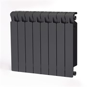 Радиатор биметаллический Rifar MONOLIT 500 ТИТАН (RAL 7012) 8 секций